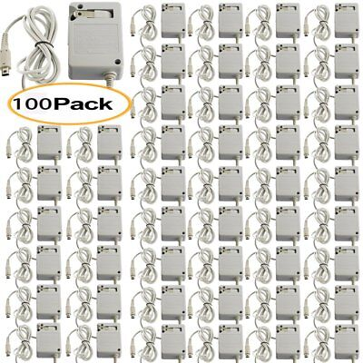 100PCS Travel AC Adapter Home Wall Charger for Nintendo NDSi XL / LL 3DS New UR