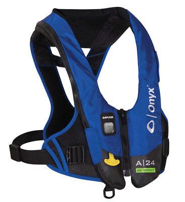 Onyx Impulse A-24 In-Sight Blue Automatic Inflatable Life Jacket PFD New