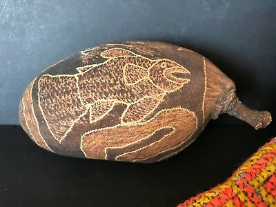Old Australian Aboriginal Carved Kimberley Boab Nut …beautiful collection piece