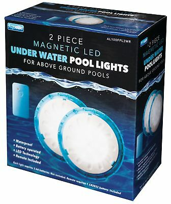 Swimming Pool Light LED Bulb Underwater 2 Pack Magnetic Lamps Remote Control