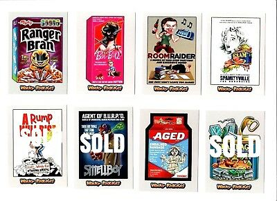 2018 Wacky Packages Go To The Movies -PICK-A-SINGLE- SILVER Sticker Cards PICK 1