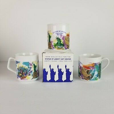 Vtg Statue of Liberty Coffee Cup NOS Mug New York City NY NYC ONE CUP