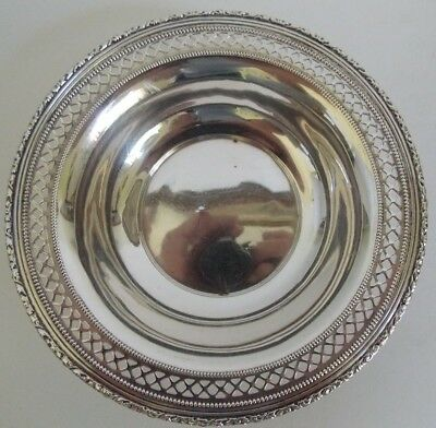 "Vintage RLB Solid Sterling Silver Plate,  6""   84 Grams ROGERS LUNT BOWLEN"