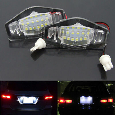 2X License Number Plate Light Lamp 18 SMD LED for Honda Civic Jazz Accord Legend