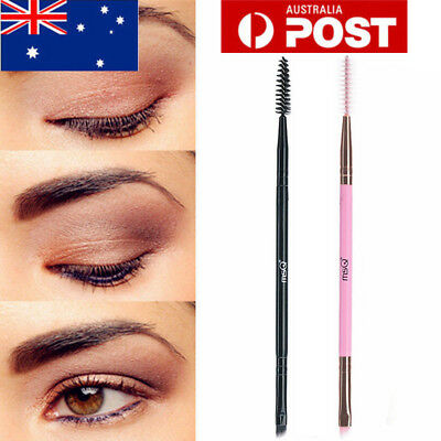 AU Double Sided Brow Makeup Brush Handle Duo Eyebrow Liner Flat Angled Brush MSQ