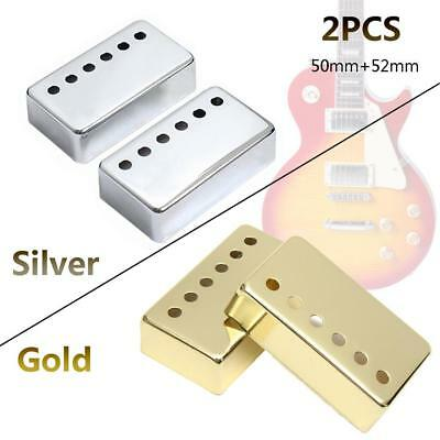 2pcs Metal Humbucker Guitar Pickup Cover Covers Caps 52mm/50mm for Guitar Parts