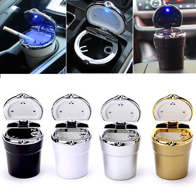 Car Auto Truck Desktop Cigarette Smoke Ashtray Ash Tray Cup Holder LED Light Hot