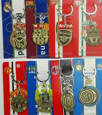 2018 NEW Coppery keychain for Barcelona real madrid soccer fans alloy keyring JH