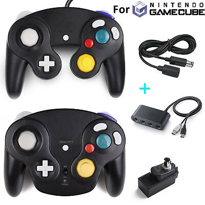Black Wired / Wireless NGC Controller Gamepad for Nintendo GameCube Console