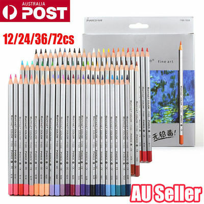 Marco 24/36/48/72 Colored Pencil Set Raffine Fine Drawing Pencils Oil Base NW