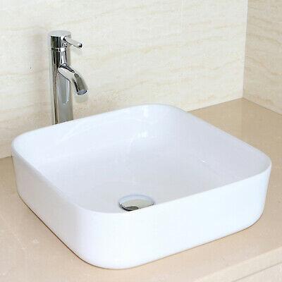 2436 White Modern Bathroom Vanity Cabinet Vessel Sink Wfaucet