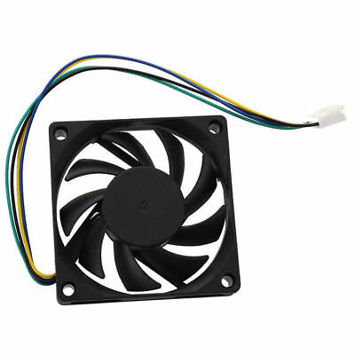 12V 70mm x 15mm 4 Pin CPU Brushless Cooling Fan PC Cooler Heat Sink Black 7015