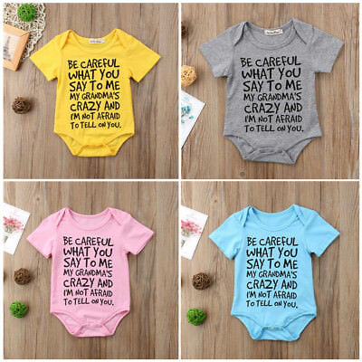 AU Baby Boy Girl Infant Toddler Newborn Romper Clothes Jumpsuit Bodysuit Outfits