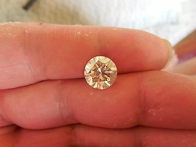 Fiery 3.28 ct Yellow Tint White I-K Color Round Loose Moissanite VVS1 9.60 mm