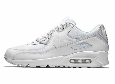 separation shoes 9392d 63630 NIKE AIR MAX 90 ESSENTIAL TRIPLE WHITE 537384-111 Mens Running Sneakers  infrared