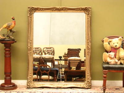 Lge Gilt Look Antique Style Over Mantle Wall Bevelled Mirror ~ Beautiful Detail