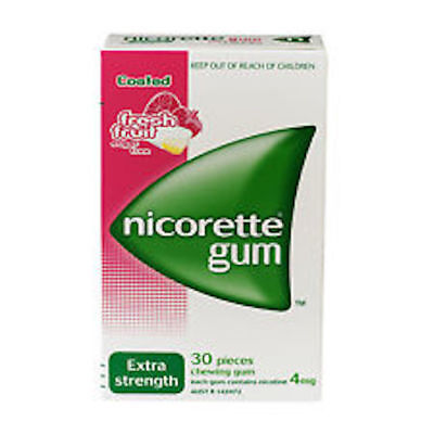 Nicorette 4mg Chewing Gum 30 Pieces Fresh Free FREE POSTAGE GREAT PRICE
