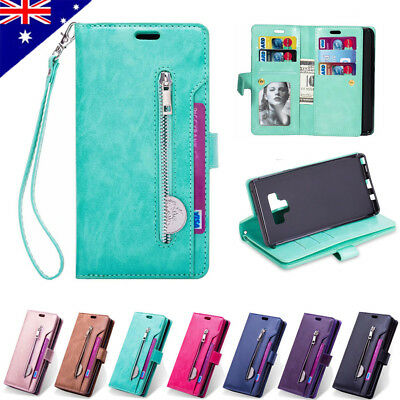 For Samsung Galaxy Note 9 S10 S9 S8 Plus S7 Leather Wallet Case Card Slots Cover