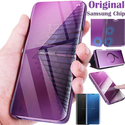GENUINE Samsung Chip Galaxy S9+ S8 S9 Plus Note 8 S-View Flip Cover Case Leather