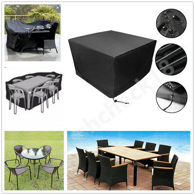 Waterproof Garden Patio BBQ Furniture Cover Rattan Table Square Cube Outdoor UK