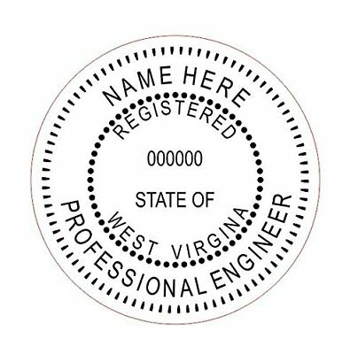 State of West Virginia Customized Professional Self-Inking Round Engineer Stamp