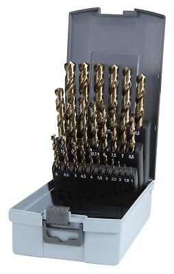 RUKO 24pcs. Cobalt Drill Bits HSS-Co5 include special size 3.3, 4.2, 6.8, 10.2mm