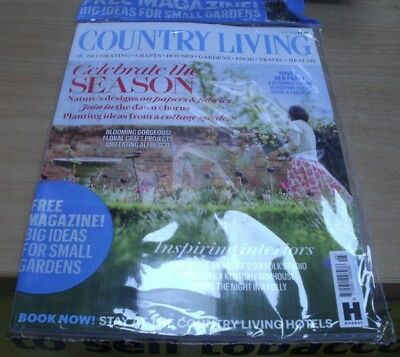 Country Living magazine May '18 Nature designs on papers & fabrics +floral craft