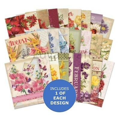 Hunkydory Little Book of Birth Flowers - Sample Pack 24 sheets x A6 150 gsm