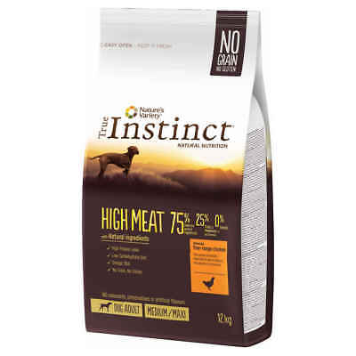 Croquettes High Meat Medium Maxi Adult pour Chien - True Instinct - 12Kg