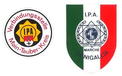 Aufkleber IPA International Police Association Main-Tauber/Senigallia