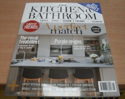 Utopia Kitchen Bathroom magazine May 2018 Purple The colour of the year & more