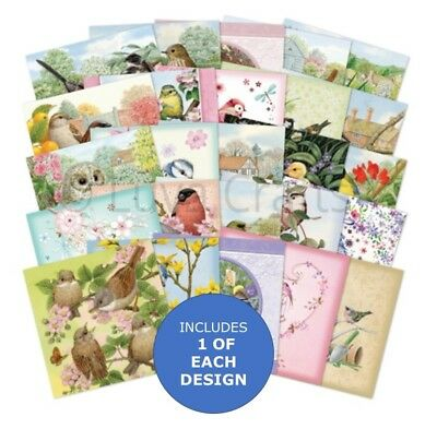 "Hunkydory The Square Little Book of Birdsong 5"" x 5"" Sample Pack 25 sheets"