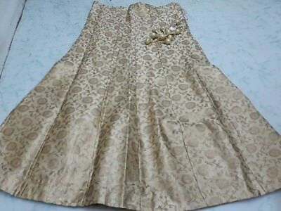 USA gold Lehenga skirt Indian skirt