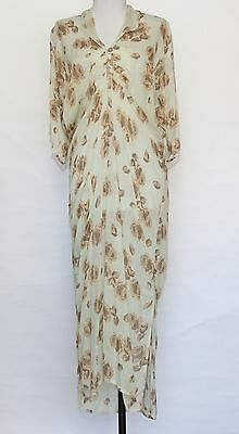 Bryan Emerson vintage style midi floral Virginia Woolf dress. Size S