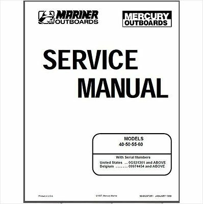 mercury mariner outboard 45 jet 50 55 60 service repair manual download