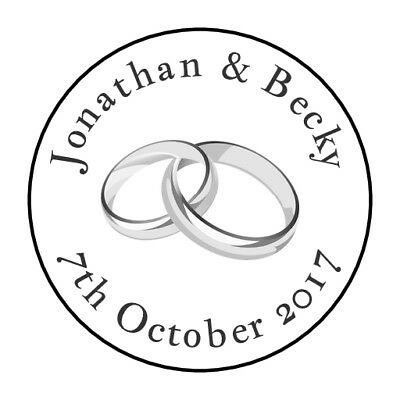 105 Personalised Wedding Stickers/Labels