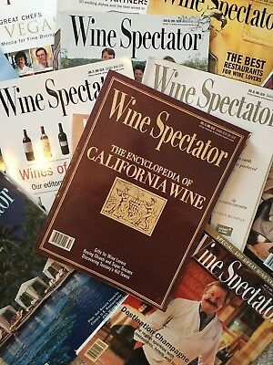 Wine Spectator Magazine - Assorted Back Issues from 1998 to 2002