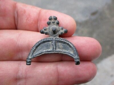ancient Viking bronze crescent moon, amulet, pre-pagan origins