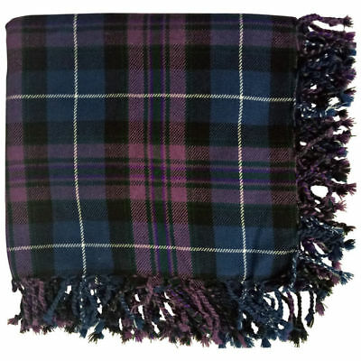Men's Scottish Kilt Fly Plaid Pride of Scotland Tartan 48'' x 48'' purled fringe