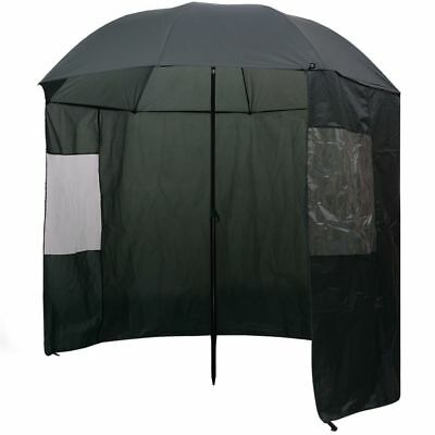 Fishing Umbrella Brolly Shelter Tent Angler Waterproof Side Top Protection