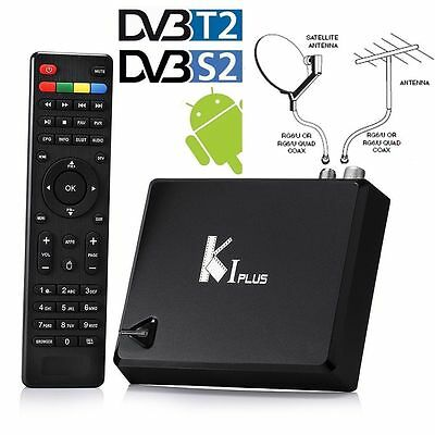 K1 Plus DVB-S2 / T2 Android 7.1 Combo TV Box Amlogic S905 WiFi 64bit