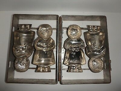 XRARE antike Schokoladenform 2x FRAU IGEL antique chocolate mold MRS.HEDGEHOG 86
