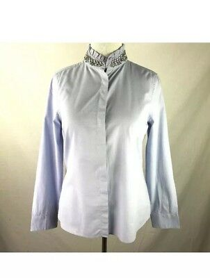 New Womens Elle Button Up Shirt Blouse W Jeweled Collar Size 16 New