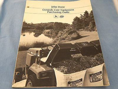 John Deere Grounds Care Equiptment Purchasing Guide * 1987 * Pictures & Specs *