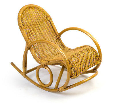 Kinder Schaukel Stuhl Rattan Bambus Rocking Chair Berceuse Chaise Denfant