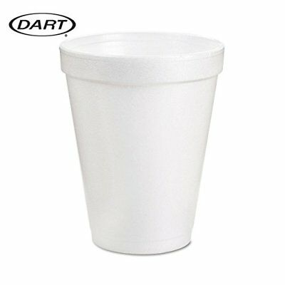 White Disposable Dart Hot And Cold Insulated Foam Drinking Coffee Cups 8oz 102pc