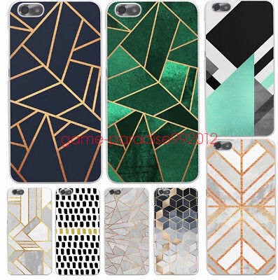 Marble Line Luxury for huawei P8 P9 P10  Lite hard Transparent phone case