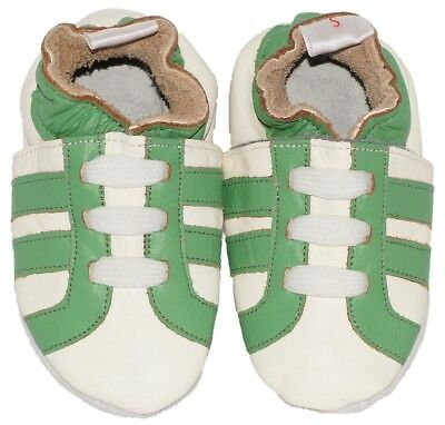Baby Steps babyslofjes green trainers