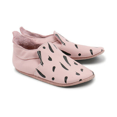 Bobux babyslofjes blossom black paint trims loafer