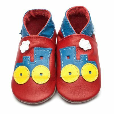 Inch Blue babyslofjes toot train red